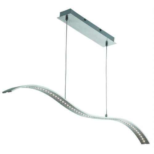 Led Bar Lights - Pendant Bar Satin Silver - Wavey (Class 2 Double Insulated) Bx2076Ss-17